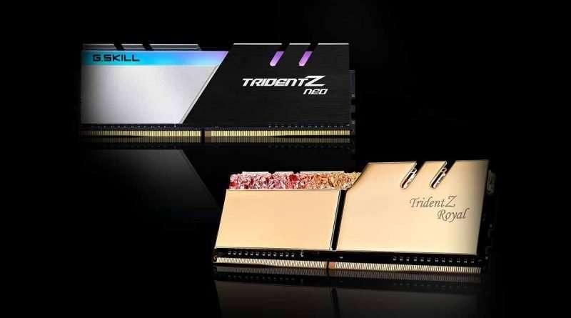 gskill tridentz quad channel RAM for AMD Ryzen Threadripper TRX40 and Intel X299 Motherboard