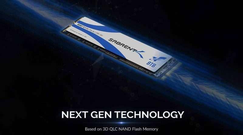 New Sabrent Rocket Q 8TB SSD with NVMe PCIe Gen3 x4 interface (SB-RKTQ-8TB) & QLC based NAND Flash Memory